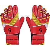 Sportout Guantes de portero junior, guantes de entrenamiento para niños y niñas, con doble protección de muñeca y material de