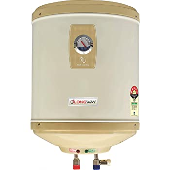 LONGWAY Abs Body, HD ISI Element and Capsule Type ss Tank Stainless Steel 5 Star Water Geyser with Temperature Meter (25 L, Ivory)