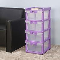 Nilkamal CHST24 4 Layers Plastic Cabinet Drawer Purple Rectangular 14x17x32