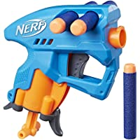 Nerf NanoFire Blaster, Green Single-Shot Blaster with Dart Storage, Includes 3 Official Nerf Elite Darts, For Kids Ages…