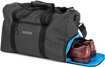 ronin's Stilvolle Sporttasche Reisetasche mit Schuhfach und Trinkflaschen-Halter