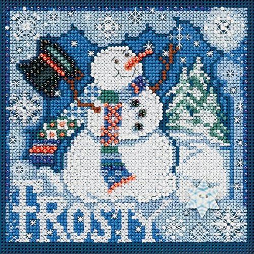 Unbekannt Mill Hill Frosty Schneemann Winter Tasten und Perlen Kreuzstich-Set, 5von 12,7cm