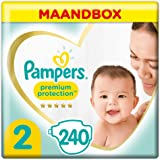 Pampers Maat 2 Premium Protection Luiers, 240 Stuks, MAANDBOX, onze Nummer 1 Luier voor Zachtheid en Bescherming van de Gevoe