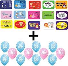 Party Propz Baby Shower 40 Pcscombo (Photobooth + 25 Pieces Balloons) For Baby Shower Decoration And Baby Shower Props