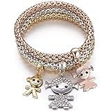 Braccialetto delle donne, braccialetto sveglio del polsino del braccialetto del braccialetto a catena tratto del braccialetto