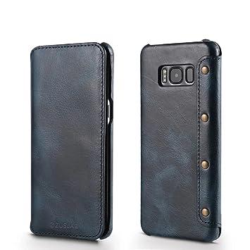 Samsung Galaxy S8 Plus Custodia [Genunie Leather Vintage ...