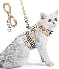 Unihubys katzengeschirr mit Leine ausbruchsicher, verstellbares, Weiches Mesh-Material mit starkem D-Ring für Ruhe, ideal für Spaziergänge, Reisen oder für den Tierarzt ohne Flucht