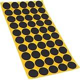 50 x antislippads van EPDM/celrubber, rond, Ø 20 mm, zwart, zelfklevend, antislip pads, intopkwaliteit (2,5 mm)