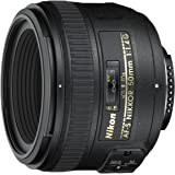 Nikon AF-S NIKKOR 50mm f/1.4G Obiettivo, Nero [Nital Card: 4 Anni di Garanzia]