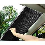 Solskydd bil teleskopisk bakruta och vindruta invändigt solskydd aluminium sugkopp bil UV-skydd för små bilar SUV lastbil (65