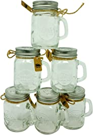 Smiths Mason Jars Mini Mason Jar Shot Glasses, Set of 6, 120 ml Each, Great Gift Tag Wedding Favors