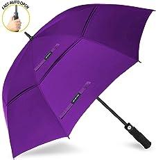 ZOMAKE Golf Regenschirm, Premium Qualität, 157cm/172cm Groß, Sturmsicher, Automatik - Automatisch zu öffnen, Regen- und Windresistent Golfschirme