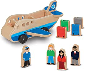 Melissa and Doug Wooden Airplane Set, Multi Color
