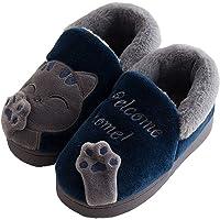 KVbabby Chat Doux Hiver Peluche Pantoufles en Coton Chaussons Fille Garcon Slip sur Intérieure Maison Chaussure Accueil…