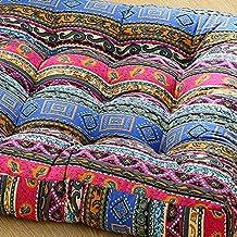 cojín de algodón y lino/espesar,acolchado del asiento/estera de la ventana de bahía/telas,esteras del tatami,estilo japonés del suelo,futón-N 53x53cm(21x21inch)