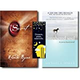 The Secret + The Untethered Soul: The Journey Beyond Yourself (2 Books Combo with Customized Bookmarks)