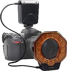 SHOOT XT-103C Macro LED Ring Flash Light for Canon 5D MarkIII 5D MarkII 650D/T4i 600D/T3i 550D/T2i 1100D/T3 60D 7D Nikon D7000 D3200 D3100 D5100 D5000 Olympus Pentax SLR Cameras