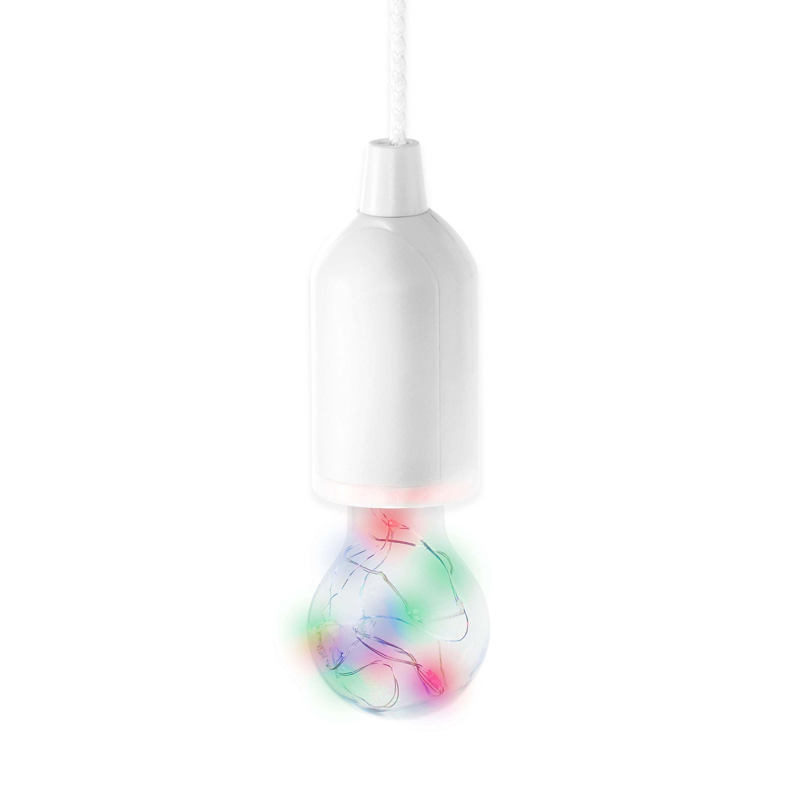 best sneakers 09cae 12d19 Invero® Hanging Pull Cord Portable Bulb On A Rope with Colour Changing  Flashing LED Light Ideal for Home, Parties, BBQ's, Garages, Camping and  more - ...