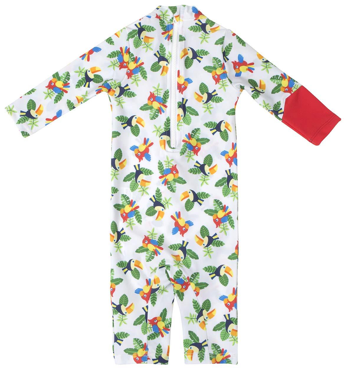 OCOI Traje De Baño para Bebé con Protección Solar UPF50+ Manga Larga – Mono/Bodysuit/Bañador Entero Una Pieza niña y… 10