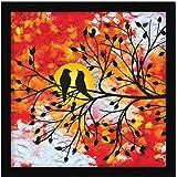 ArtX Paper Bird Abstract Wall Art, Multicolor, Bird, 13X13 in, Set of 1