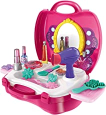 Toyshine Carry Along Beauty Set Toy with Briefcase and Accessories, (Multicolour)