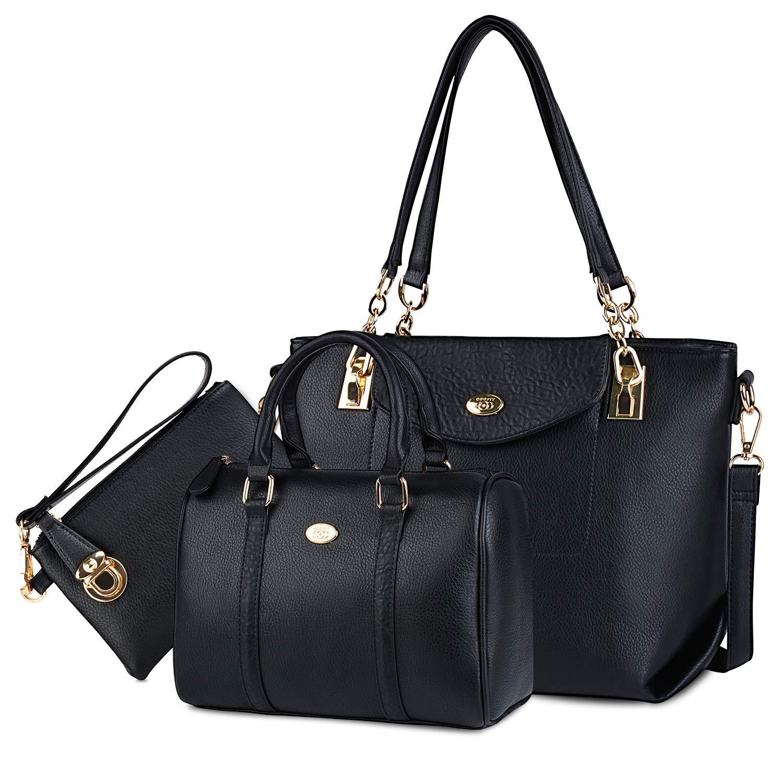Bolsos Mujer,Coofit Bolsos Cuero Bolso Bandolera Bolso Tote Bag Bolsos Shopper Bolso Bowling Bolsos de Mano Set Bolsos de Mujer