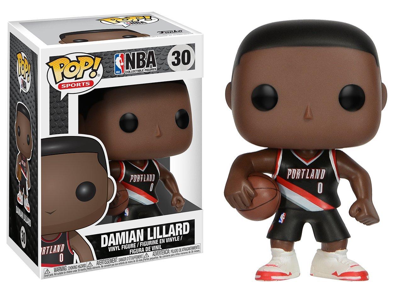 Funko Pop Damian Lillard Portland Trail Blazers camiseta negra (NBA 30) Funko Pop NBA