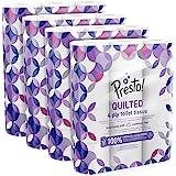 Marque Amazon - Presto! Papier toilette 4 épaisseurs - MATELASSÉ - Lot de 48 (4x12x160 feuilles) - Motif: Gemme