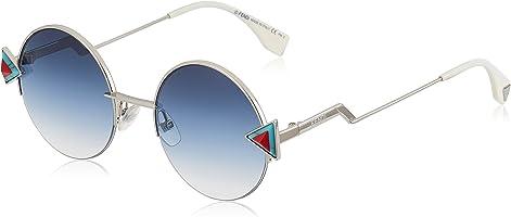 Fendi Women's Ff 0243/S Ne Scb Sunglasses, Silver (Silber), 55
