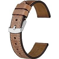 BISONSTRAP Cinturino per Orologio da Uomo 18mm 19mm 20mm 21mm 22mm 23mm 24mm, Cinturino di Ricambio in Pelle Vintage per…