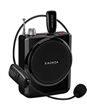 XIAOKOA 2.4G 40m Stable Wireless Voice Amplifier with Headset and Handheld 2 in 1 Wireless Microphone (N-201)