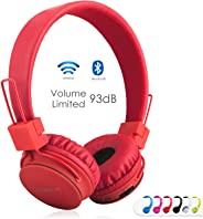 Wireless Bluetooth Kids Headphones, NIA Bluetooth Wireless Foldable Stereo over-Ear headsets with music share port and Built