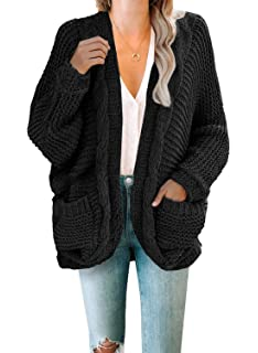 Jolicloth Women Chunky Cardigan Casual Loose Knit Sweaters