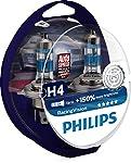 Philips Racing Vision H4 Headlight Bulbs (Twin)