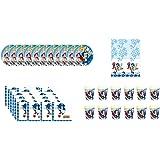 ALMACENESADAN 0468, Pack Vacances et Anniversaire Sonic; Pack d'anniversaire; 12 Verres, 12 Assiettes 23 cm, 20 Serviettes et 1 Nappe en Plastique 120x180 cm