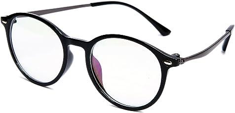 TheWhoop Black Round Spectacle Frame Eye Glasses For Men Women Boys Girls | Transparent Nightwear Unisex Eyeglass