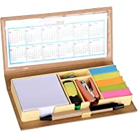 Crownlit Eco-Friendly Stationary Set with Paper Clips, Stapler, Sticky Notes, Calendar