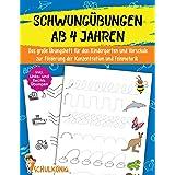 Schwungübungen Ab 4 Jahren: Das große Übungsheft für den Kindergarten und Vorschule zur Förderung der Konzentration und Feinm