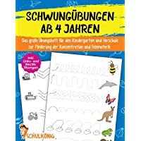 Schwungübungen Ab 4 Jahren: Das große Übungsheft für den Kindergarten und Vorschule zur Förderung der Konzentration und…