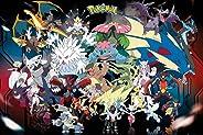 Pokémon Mega Evolution poster. Officieel gelicentieerd