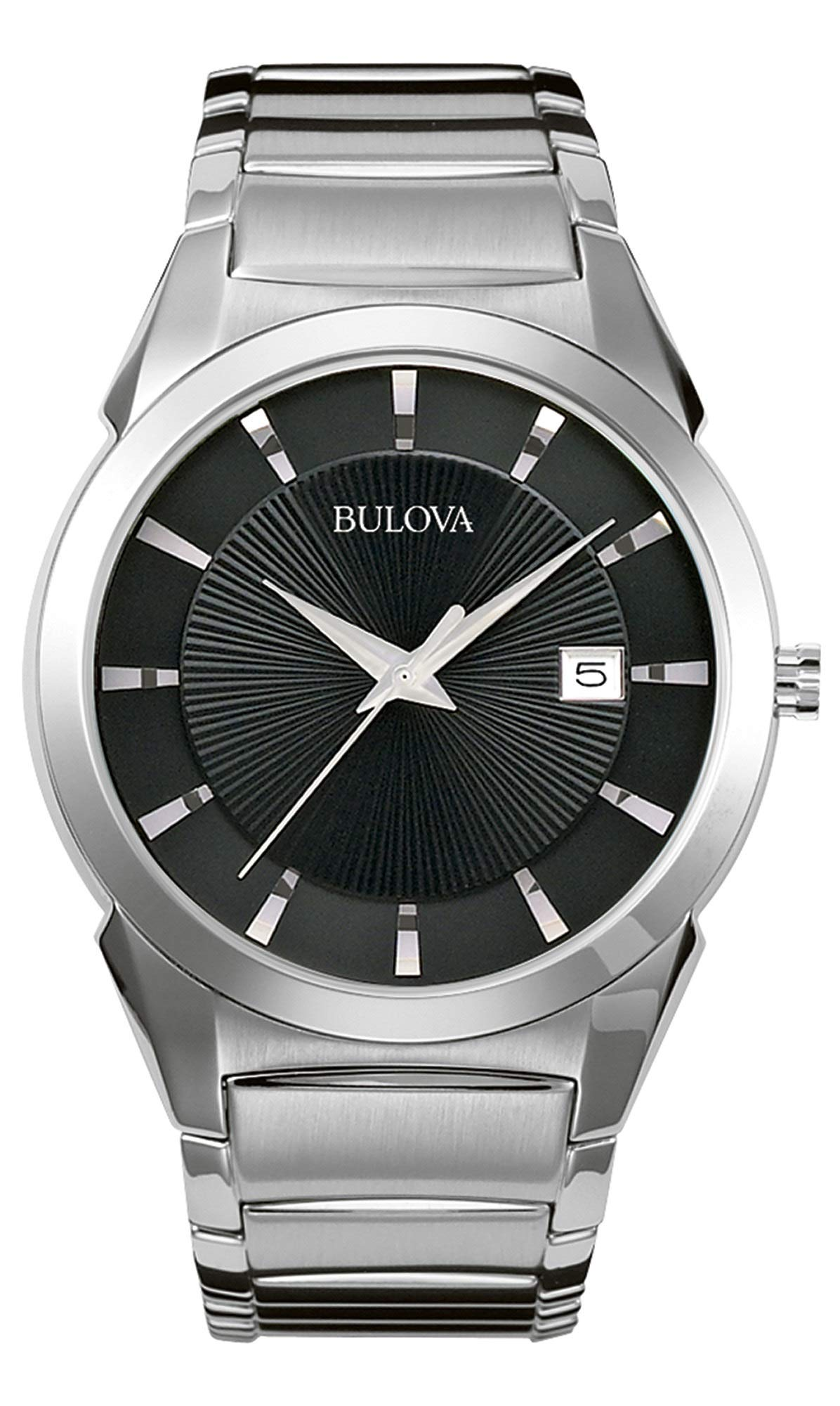 Bulova Mens Analogue Classic Quartz Watch with Stainless Steel Strap 96B149,Black