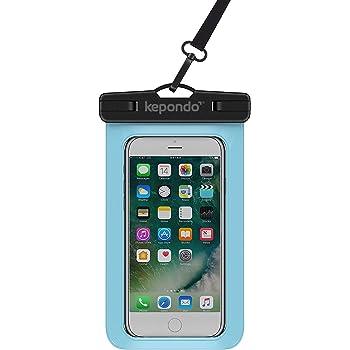 Kepondo Wasserdichte Handyhülle, Tasche Beutel, Wasserdicht, Unterwasser Handy Hülle, IPX8 (30m Tiefe), für alle iPhone Modelle, Samsung Galaxy S9, S8, S7, S6 und mehr, für jedes Gerät bis zu 6,0 Zoll