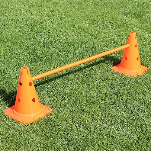 Bild von: Kombi-Kegelhürde 30 cm mit Stange 100 cm, für Hürdenparcours, für Agility - Hundetraining (orange)