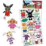 Paper Projects- Bing Bunny-Adesivi in Schiuma Spessa, Multicolore, 24.5cm x 11cm, 01.70.34.003