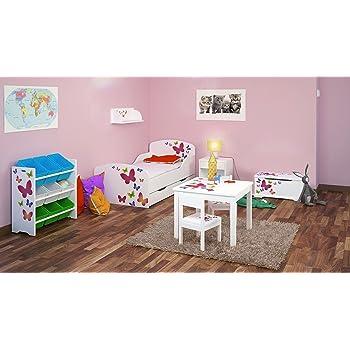 Chambre Pour Un Enfant Motif Papillons Ensemble De 6 Meubles Lit