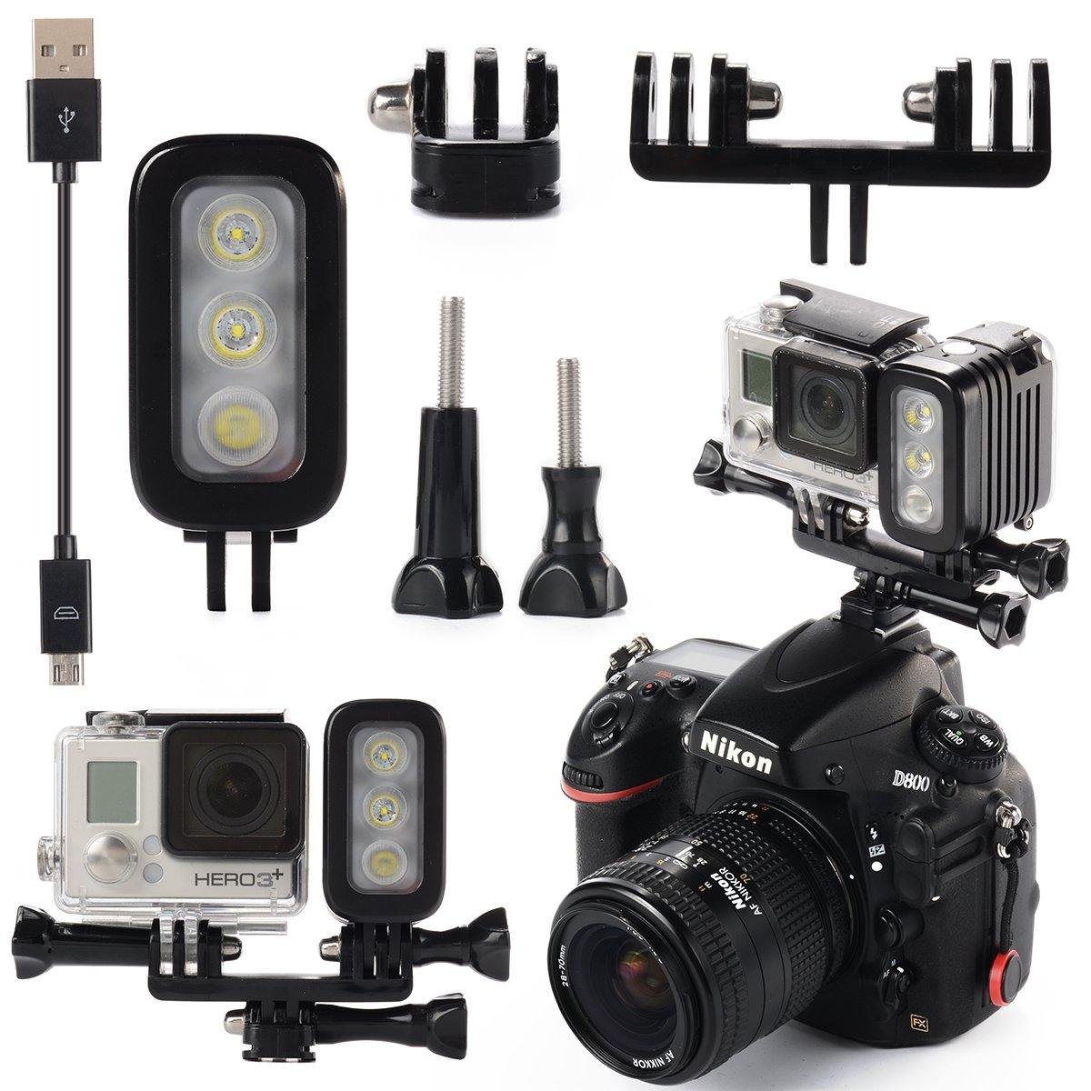 XCSOURCE Impermeabile Spot LED Spot Flash Light per GoPro Hero 4 Sessione 3+ Camera xiaomi OS431