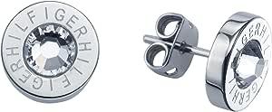 Tommy Hilfiger jewelry 2700259 - Orecchini a lobo da donna con zirconia cubica, acciaio inossidabile