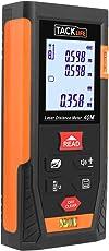 Metro Laser, Tacklife HD 40m Telemetro Laser, Misuratore laser digitale / Deviazione 1.5mm / Calcola Area Distanza Volume / Funzione Pitagora / Funzione silenziamento / IP54 / Livello bolla integrato / Retroilluminazione LCD