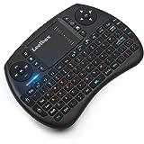 (Sonderangebotswoche) Mini drahtlose Tastatur mit Touchpad Maus Leelbox 2,4Ghz mini wireless keyboard Mini usb Tastatur geeignet alle Gerät was mit USB Port (QWERT, deutsches Tastaturlayout)