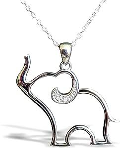 Studio7 - Ciondolo in argento Sterling con elefante portafortuna